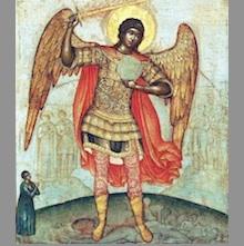 Архангел Михаил, ангелските чинове и ангелите-пазители