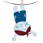 Ако детето се уплаши, да го обърнем надолу с главата